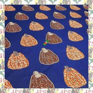 【SALE】アフリカンプリント生地 布 180cmx110cm(2ヤード) アフリカ布 アフリカ生地 アフリカ バティック ハンドメイド素材 barg-d53