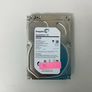 [HDD] 3TB sata Seagate ST3000NC002 3.5インチ Constellation 7200RPM/7.2K ハードディスク/データ抹消済 HDD_72
