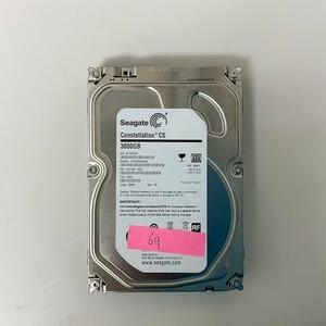 [HDD] 3TB sata Seagate ST3000NC002 3.5インチ Constellation 7200RPM/7.2K ハードディスク/データ抹消済 HDD_69