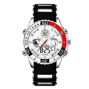お買い得!!海外人気ブランド 新作 日本未発売 メンズスポーツ腕時計 クロノグラフ 新品 女ウケ モテ レッド