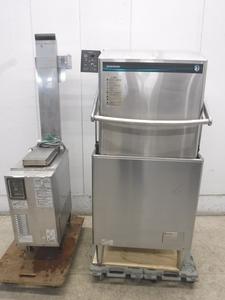 C1189◆ホシザキ 2017年◆食器洗浄機(ガスブースタータイプ)JWE-680B+WB-25H-2 3相200V50Hz+都市ガス/100V W640×D650×H1430