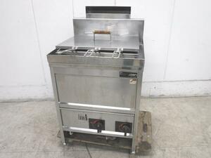 A729◆マルゼン◆角槽ゆで麺機 スパゲティ釜 MGU-066PE 都市ガス 2005年 W600×D600×H800