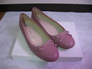 ◆超美品!WAオリエンタルトラフィックの甲リボンバレエシューズ43(26.5cm)ピンク系◆