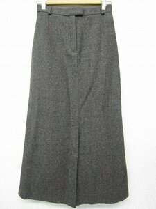 k4562:イタリア製ウィークエンドマックスマーラMax Maraウール毛ロング丈スカート38ブラウン茶:5