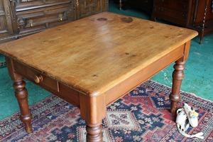 アンティーク家具 ビクトリアン/テーブル ダイニングテーブル パインテーブル 英国製 C56a