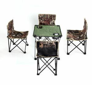 アウトドア テーブル イス 5点セット 折りたたみ 軽量 コンパクトキャンプ 収納バッグ付