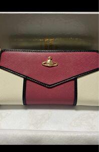 ヴィヴィアンウエストウッド Vivienne Westwood ツートン 赤白 長財布 未使用☆