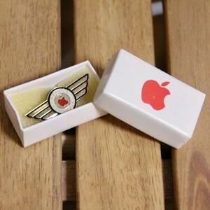 デッドストック レア Apple Ⅱ ピンバッジ Computer アップル コンピューター レインボーロゴ 非売品 ノベルティ Think Different
