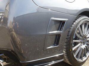 【即納・新品】#61K塗装済 スバル WRX STI S4 VA系 リア サイド エア ダクトカバー 左右セット ABS製 ダークグレーメタリック @