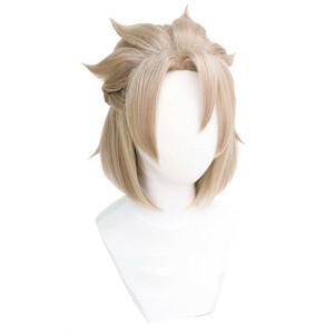 原神 げんしん 風 アルベド 風 ウィッグ 高温耐熱 カツラ 耐熱ウィッグ cosplay wig 仮装 変装用 コスプレ コスチューム
