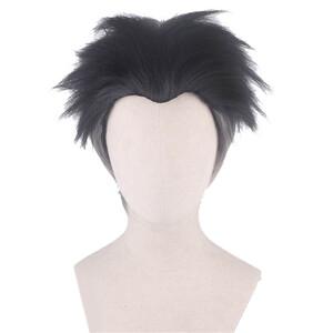 鬼滅の刃 岩柱 悲鳴嶼行冥 風 ウィッグ 高温耐熱 カツラ 耐熱ウィッグ cosplay wig 仮装 変装用 コスプレ コスチューム