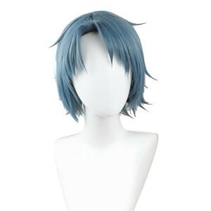 転生したらスライムだった件 ソウエイ 蒼影 風 ウィッグ 高温耐熱 カツラ 耐熱ウィッグ cosplay wig 仮装 変装用 コスプレ コスチュー