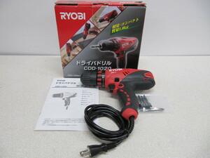 ほぼ新品に近いです。RYOBI リョービ ドライバドリル 電動工具 CDD-1020 (100V/1.8A)