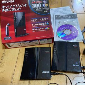 バッファロー wifiルーター 2個セット ジャンク BUFFALO 無線LAN WHR-G300N WHR-G301N