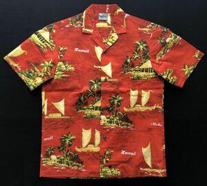 90s USA製 ハワイ製 ロイヤルクリエーションズ アロハシャツ  柄合せポケット ココナッツボタン Royal Creations 玉2926