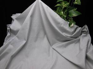 新入荷!掘り出し品!日本製!高級ブランドオリジナル!なかなか手に入らない!先染め!艶の有る糸細上質綿100%ストライプ!115cm巾×2m