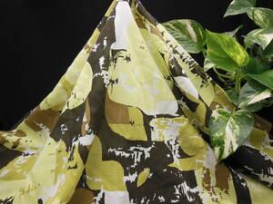 現品限り!掘り出し品!日本製!高級ブランドオリジナル!なかなか手に入らない!糸細上質!コットン&シルクプリント112cm巾×1,4m(150cm)