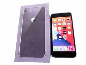 111s●SIMフリー化 iPhone 8 64GB スペースグレイ NQ782J/A バッテリー最大容量:97% ※中古/交換品/利用○(元SoftBank)