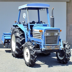 【群馬】イセキ トラクター TL3700 37馬力 ニプロ ロータリー LE1800 作業幅180cm 水平 パワステ 4駆 4WD 屋根 キャノピー 中古 ディーゼル