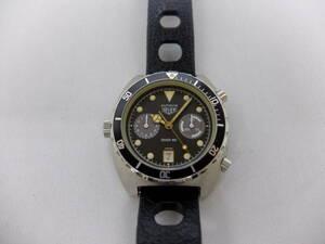 Heuer self-winding watch chronograph HEUER AUTAVIA 11063V DIVER100 unused