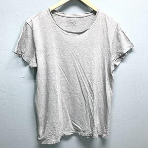 ●ラルフローレン Tシャツ グレー RALPH LAUREN メンズS コットン100% RRL 半袖 トップス 無地 シンプル アメカジ 大人スタイル /329ii