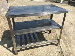 星a950 業務用 ステンレス 作業台 調理台 棚 厨房機器 店舗 980×600×高さ810mm 引取歓迎 テーブル 現状品