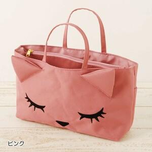 ぷーちゃん プーちゃん バッグインバッグ ピンク ネコのモチーフのバッグ ネコ・猫・ねこ ミニバッグ ポーチ FLAPPER フラッパー