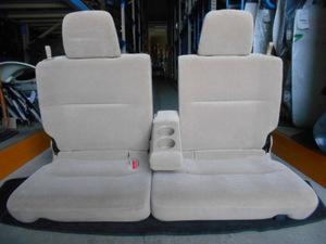 西濃◆H20年 ホンダ バモス HM/1/2 後期 リア 左右 後部座席 シート アームレスト ベージュ布(モケット) リクライニング式◆ΞK7165P E-87D