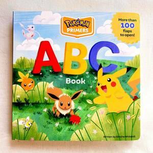【新品】ポケモン ABC仕掛け付き英語絵本 知育玩具 ピカチュウ Pokmon