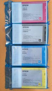 新品未使用品★IC41A純正EPSON エプソン インクカートリッジICY41A ICC41A ICM41A ICMB41A 4色セット 220ml★70630