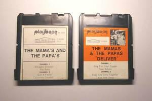 プレーテープ、黒カートリッジ、EP版、ママス&パパス。PLAYTAPE。Mamas & Papas。California Dreamin'。ツイスト&シャウトの商品画像