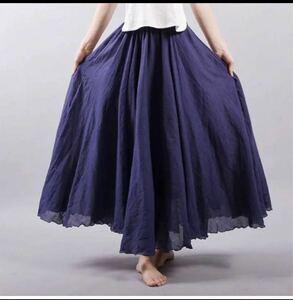 フレアスカート マキシスカート ロングスカート スカート シフォン 新品未使用 マキシスカート