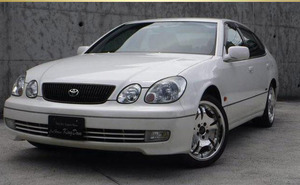 Toyota Aristo S300 belltex edition pearl white immovable car part removing receipt warm welcome