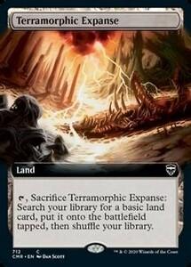 ■拡張アート■《広漠なる変幻地/Terramorphic Expanse》 mtg 統率者レジェンズ 英語 1枚