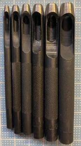 ポンチ 2、3、4、5、6、7ミリ 計6本 抜き型 レザークラフト