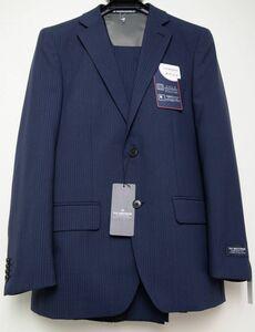 ●バンVAN BROTHERS紳士ツーパンツスーツ(A6,紺,A-U481503,ノータック)新品