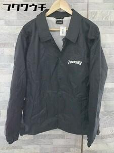 ◇ THRASHER スラッシャー × KEITH HARING キースヘリング 長袖 コーチ ジャケット サイズXL ブラック メンズ