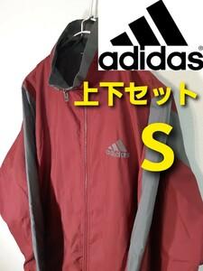 【adidas】ウインドブレーカー上下セット/ナイロンジャージ/裏地メッシュ