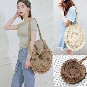 ショルダーバッグ レディースショルダーバッグ 草編み ショルダーバッグ レディース 草編みバッグ かばん 麦わら 鞄 かごバッグ
