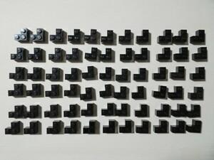 A70 黒 ブラック L字ブロック 2×2 大量 約66個 レゴパーツ LEGO