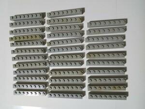 A192 旧灰 灰色 グレー ブロック 1×8 大量 約34個 レゴパーツ LEGO
