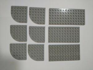 A219 旧灰 灰色 グレー 大きめプレート 特殊プレート 大量 約9個 レゴパーツ LEGO