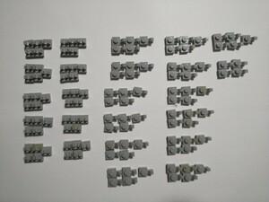 A238 旧灰 灰色 グレー クリッププレート種類色々 1×1 大量 約119個 レゴパーツ LEGO
