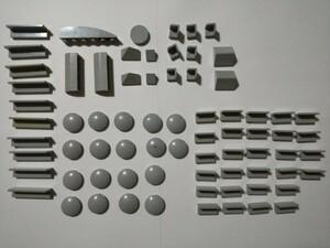 A285 旧灰 灰色 グレー 変わったつるつるプレートパーツ 大量 約77個 レゴパーツ LEGO