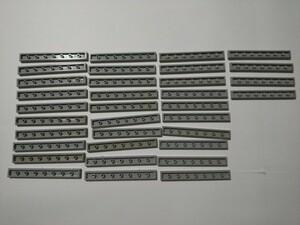 A290  旧灰 灰色 グレー 1×4 タイルパーツ 大量 約34個 レゴパーツ LEGO