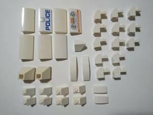 A324 白色 ホワイト スロープブロックパーツ種類色々 大量 約35個 レゴパーツ LEGO