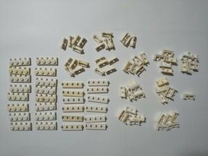 A372 白色 ホワイト つなげるプレートパーツ種類色々 大量 約87個 レゴパーツ LEGO
