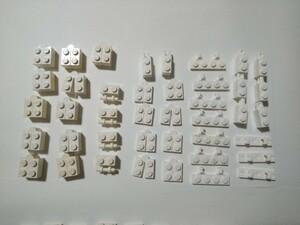A373 白色 ホワイト 可動パーツ系種類色々 大量 約41個 レゴパーツ LEGO