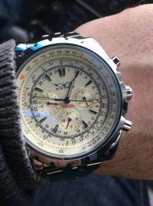 ★★メンズ腕時計 クロノグラフ スポーツ腕時計 JG A014
