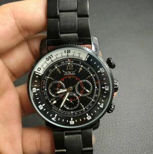★★メンズ腕時計 オールブラック クロノグラフ デザイン腕時計 A012
